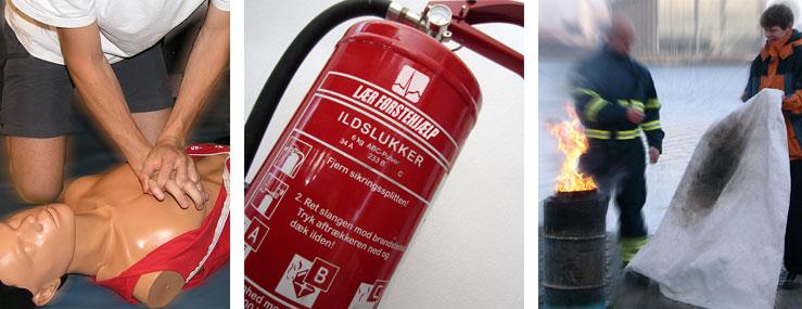 Kombikursus med brandslukning og førstehjælp